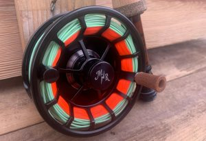 Moonshine Rod Co. 5:6 Creede Reel with a color green fly line