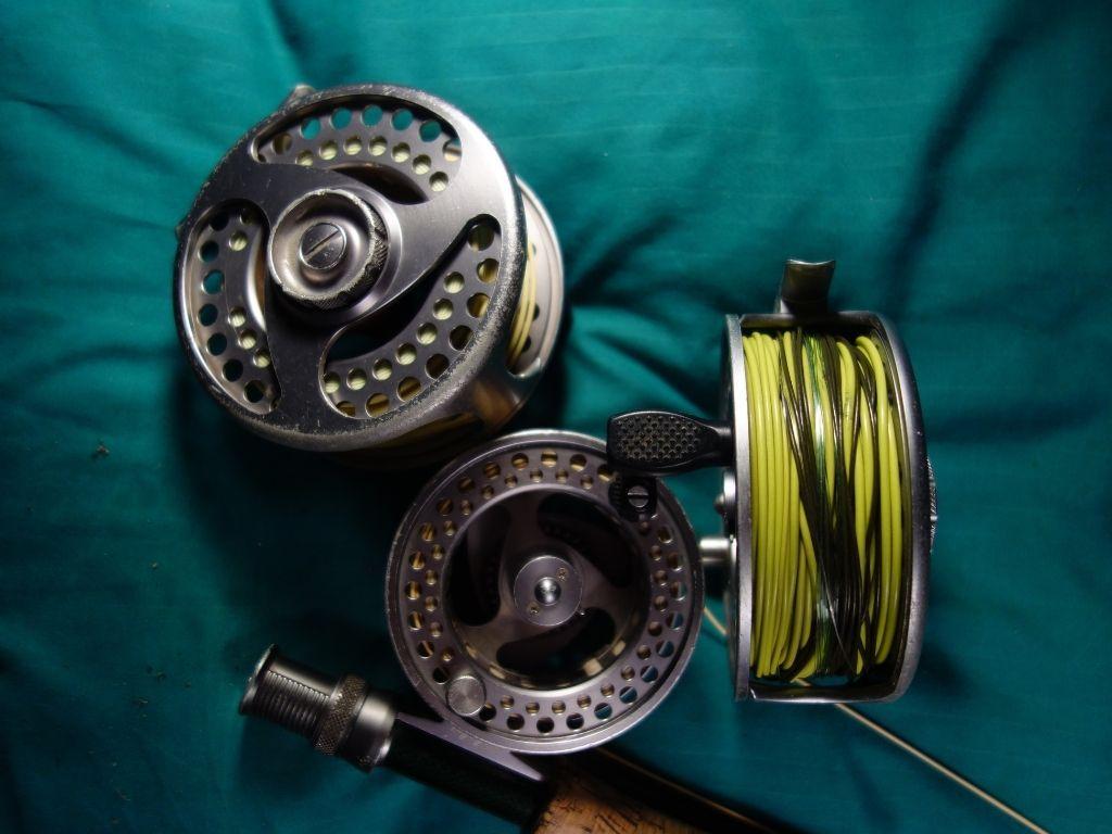 a set of Cabela's RLS+ fly reel
