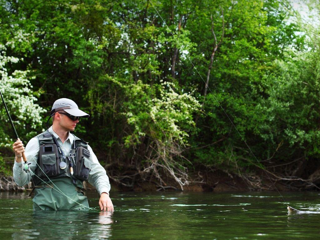 fly fishing Grayling, Michigan