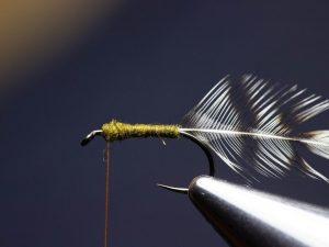 how to tie an elk hair caddis fly step 7