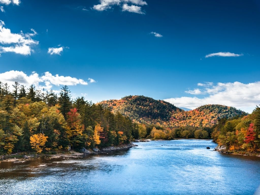 the beautiful White River in vermont for fly fishing