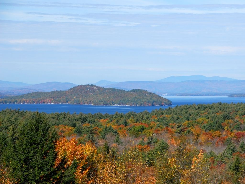 the beautiful Lake of Winnipesaukee in New Hampshire for fly fishing
