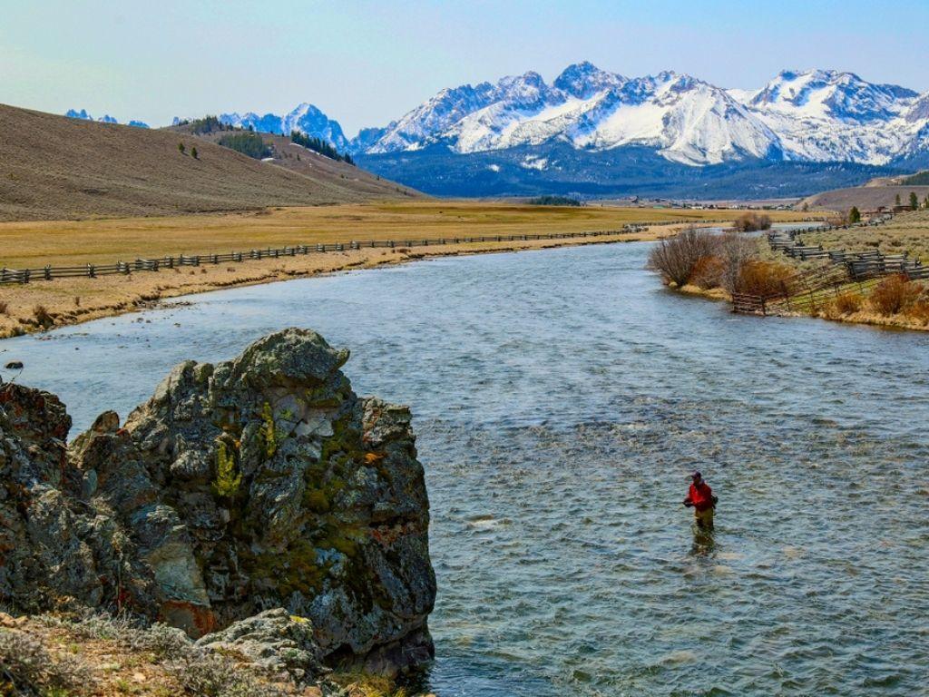 fly fishing Salmon, Idaho