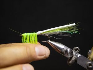 how to tie a gurgler fly step 17