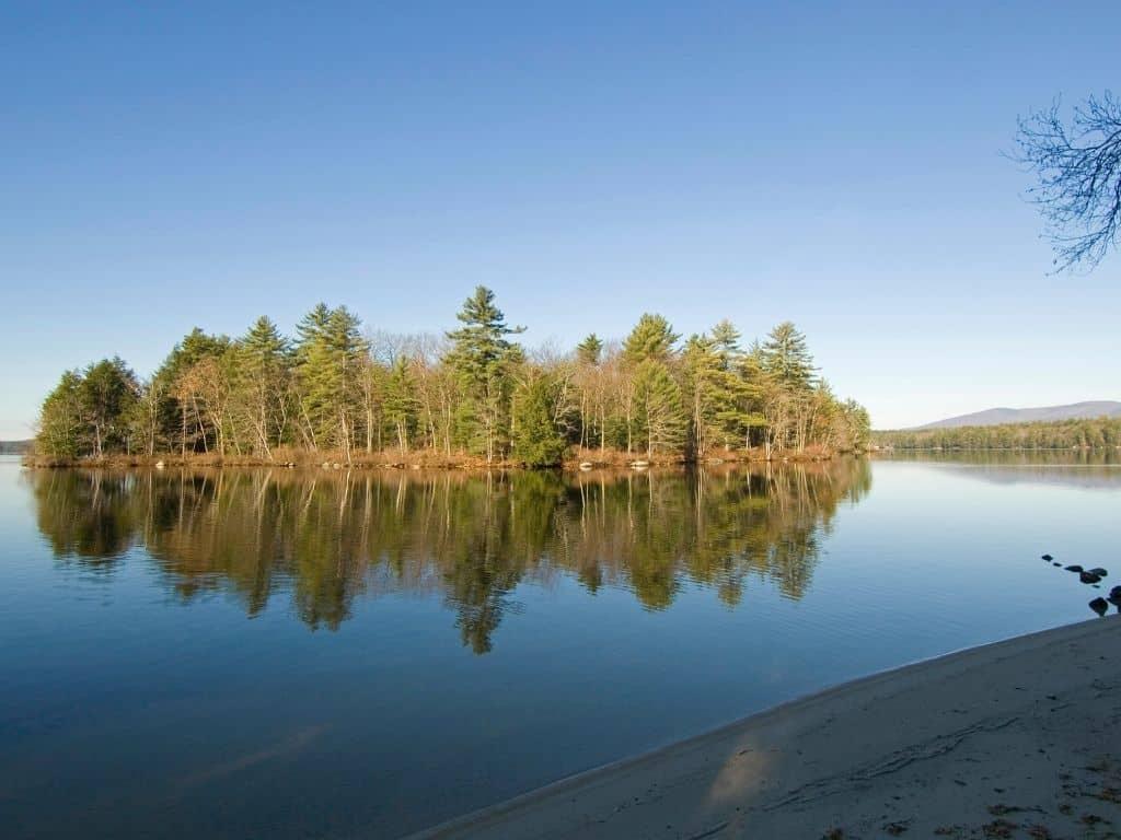 shore fishing lake winnipesaukee